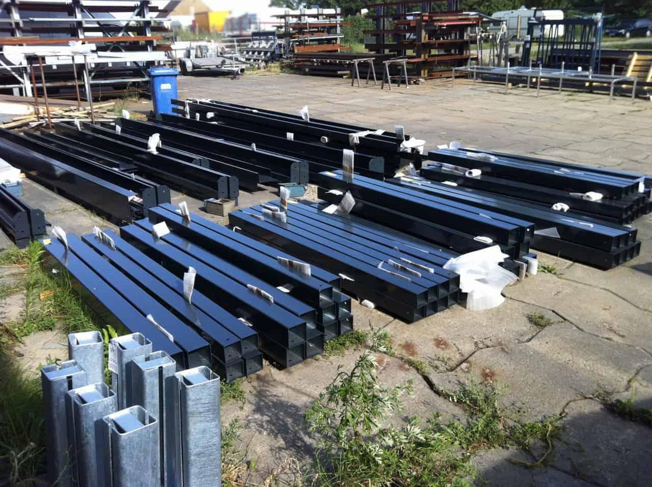 Metall Carport Material Stahl pulverbeschichtet RAL 7010 anthrazit Stahlzart timeless design
