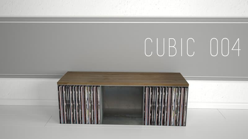 Design Metallmoebel Vinyl-Platten-Regal Sideboard Sitzbank Aufbewahrung aus Stahl Stahlzart