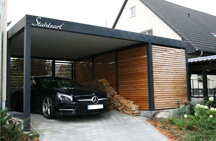 Der Metall Carport Mit Abstellraum Made For You Stahlzart Metall