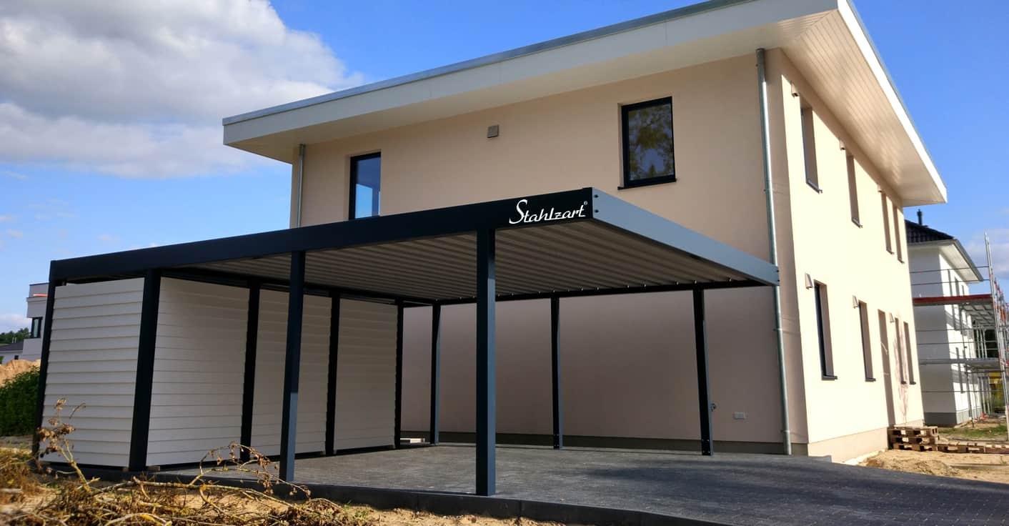 Carport Doppel mit Geräteraum Jena · Metall modern · STAHLZART