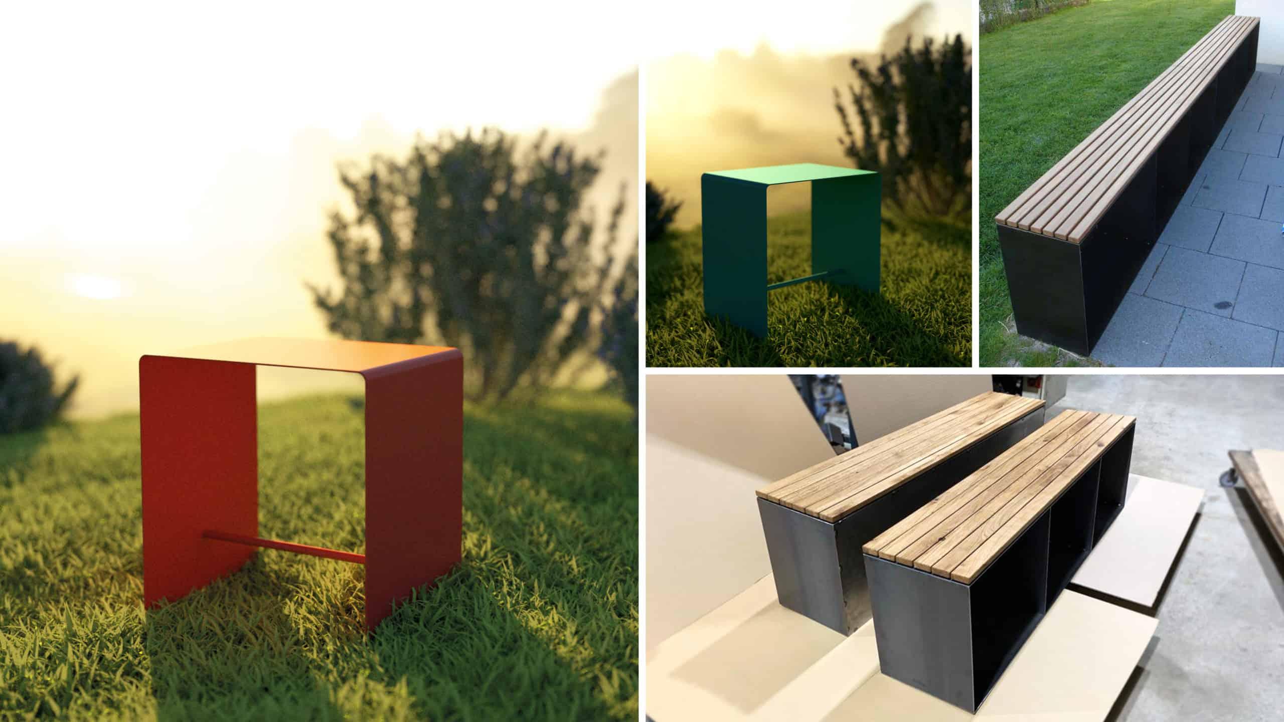 stahlzart-gartenmoebel-gartenbank-gartenhocker-garten-balkon-holz-metall-schwarz-grau-eiche-modern-design-wildeiche-massivholz-stahl-rot-gruen-blau-beige