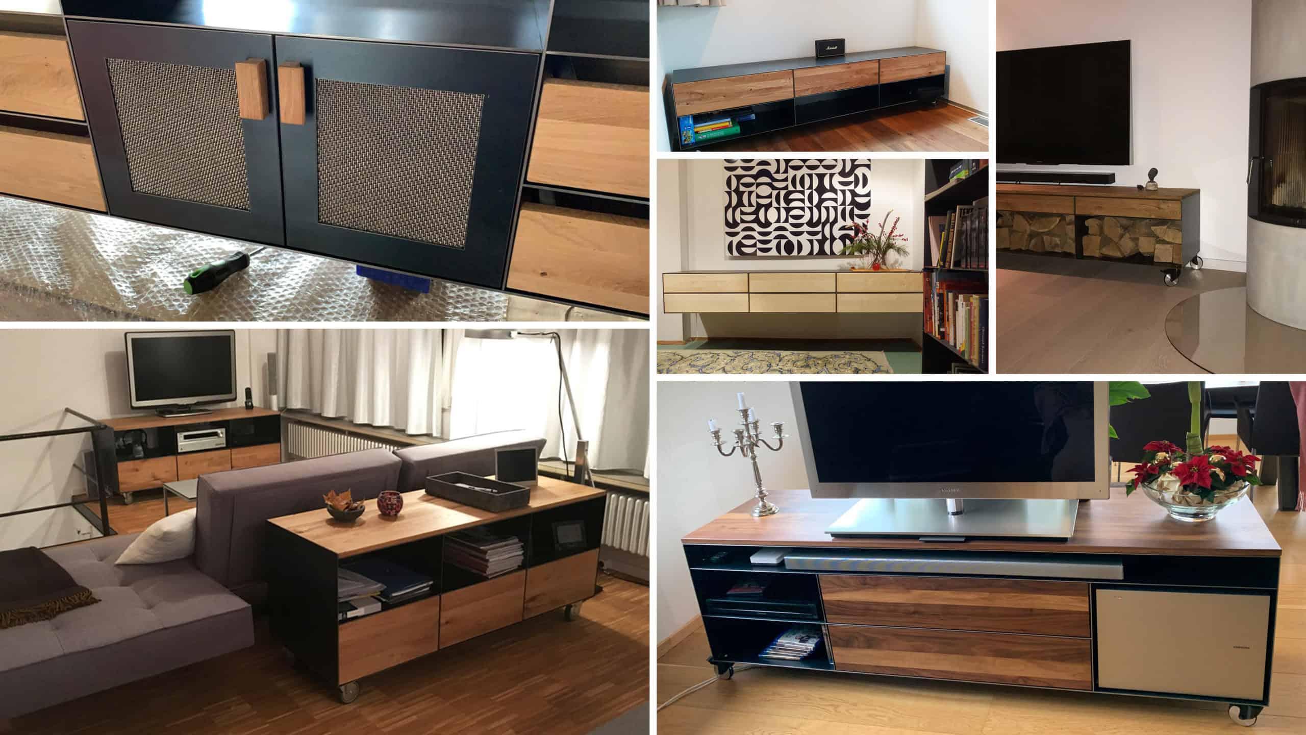 stahlzart-lowboard-tv-schwarz-grau-holz-eiche-metall-modern-design-designer-massivholz-wildeiche-weiss-stahl-mit-schubladen-auf-rollen-nussbaum-rohstahl