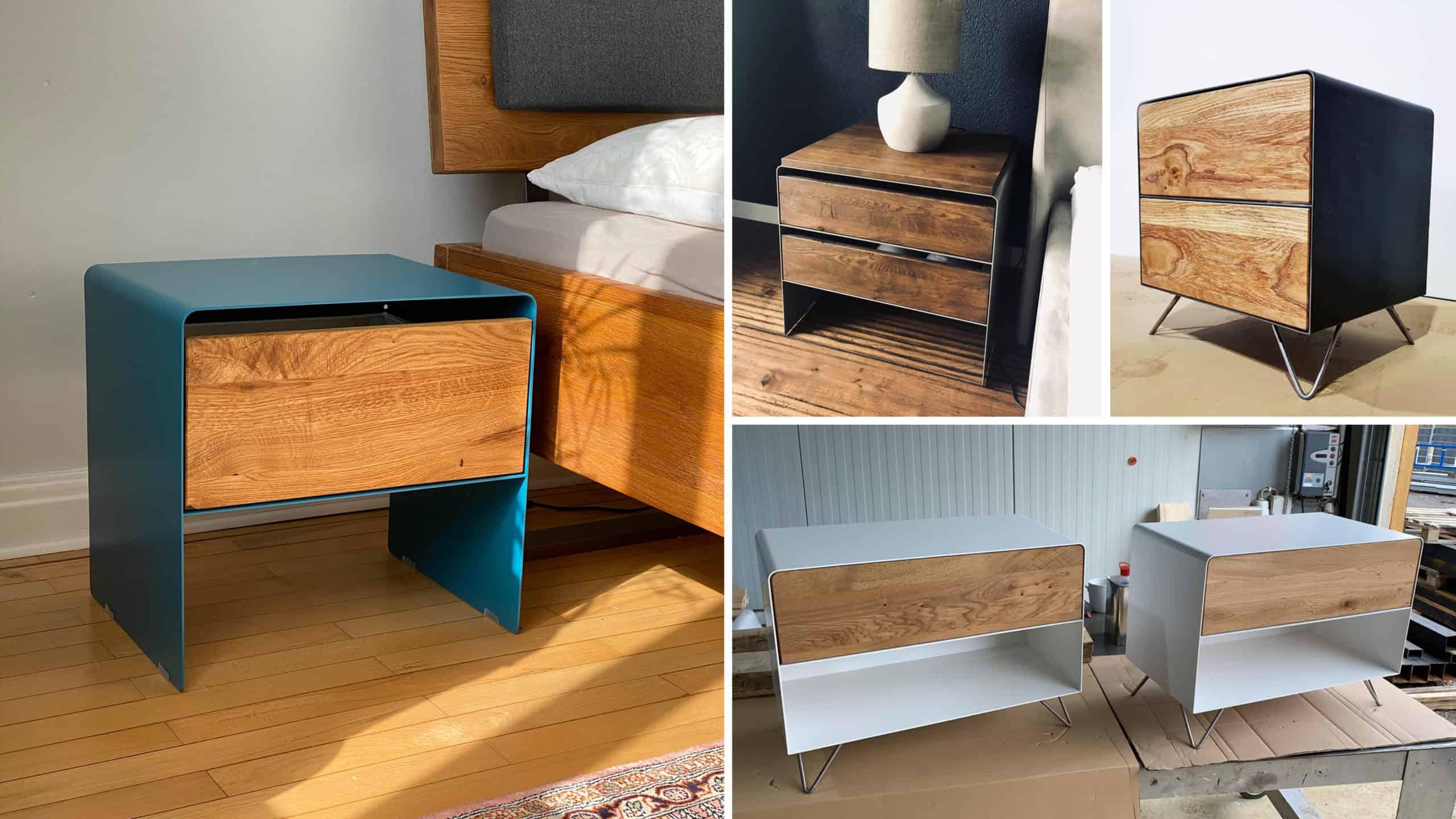 stahlzart-nachttisch-weiss-holz-eiche-schwarz-grau-metall-modern-design-massivholz-wildeiche-nussbaum-stahl-mit-schubladen-mit-rollen-haengend-fuer-boxspringbett-designermoebel