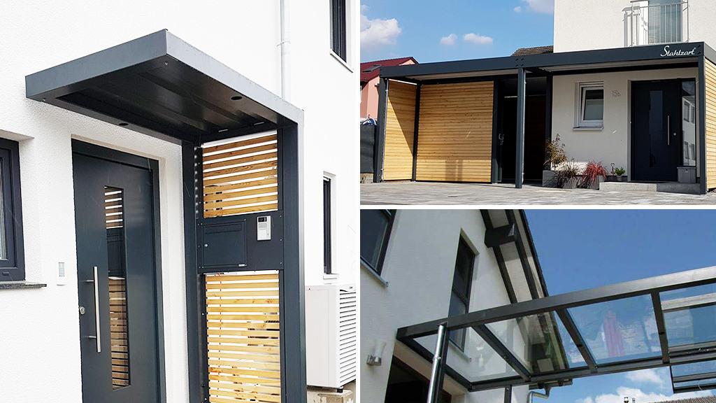 stahlzart-vordach-modern-anthrazit-holz-metall-stahl-design-flachdach-glas-tablet